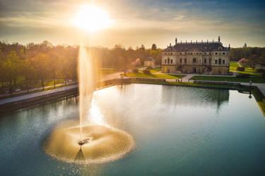 The Great Garden in Dresden by Torsten-Hufsky