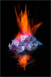 burning ice by Torsten-Hufsky