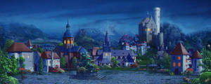 Medieval village_night by inSOLense