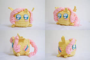 Fluttershy the Cute Cube by milliemouse579