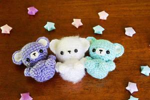 Tiny Tot Amigurumi Bears by milliemouse579