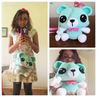 Giant Bear Crochet Purse by milliemouse579