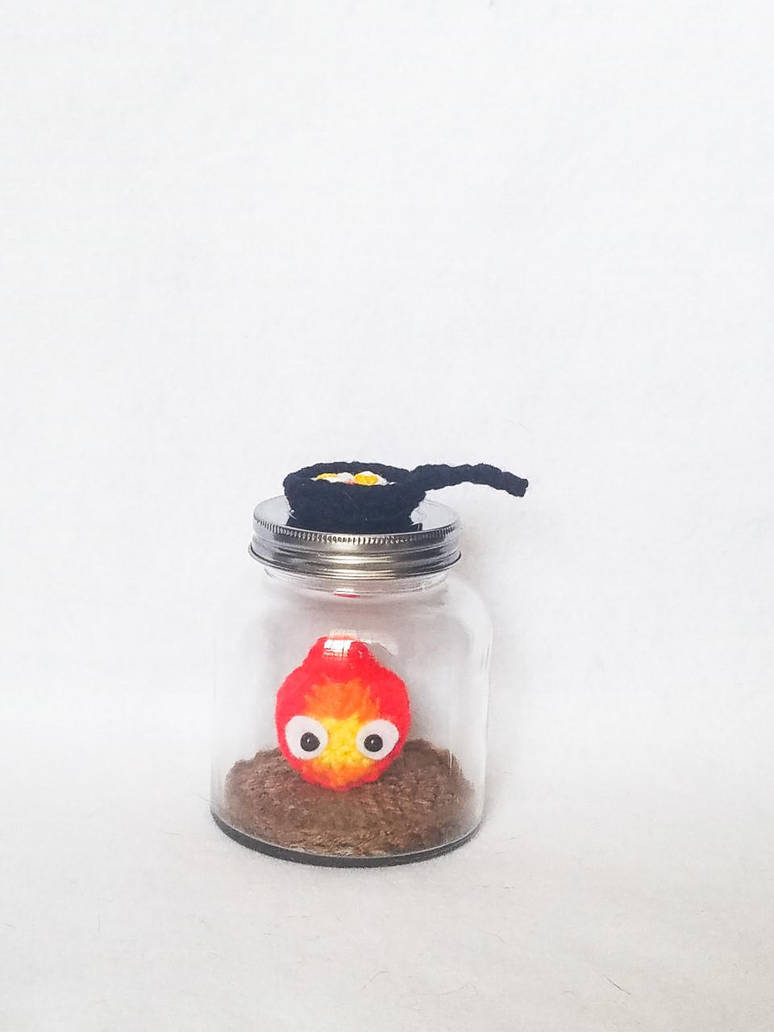 Calcifer in a Jar by milliemouse579