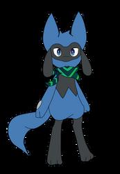 Untitled Riolu Character by thelanternfishisamaz