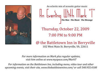 An Evening w MarkT Event Flyer by RaceyGraphics