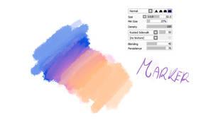 #10 Paint Tool Sai Brush - Marker2 Brush by CatBrushes