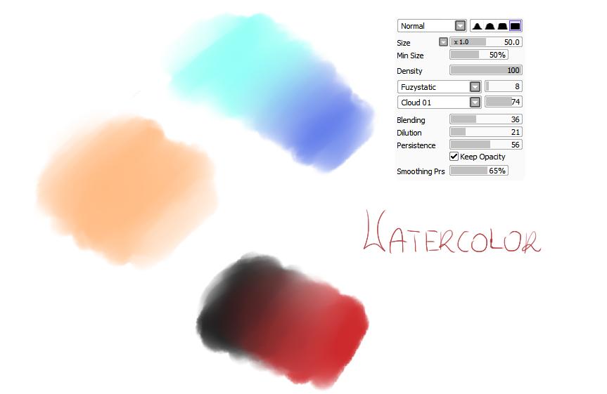 #11 Paint Tool Sai Brush - Watercolor Brush by CatBrushes