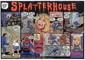 Old Advertisement for Splatterhouse by derrickthebarbaric