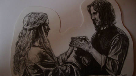 eowyn and aragorn by Jose-Fien