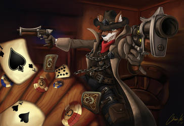 Spade Bar Fight by clockworkdragon2