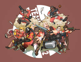 TF2 RED TEAM by KEISUKEgumby