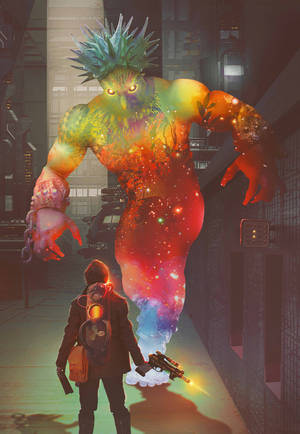 Color sucking monster by Floating-Particle
