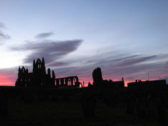 Dawn break over Whitby Abbey by Wilgils