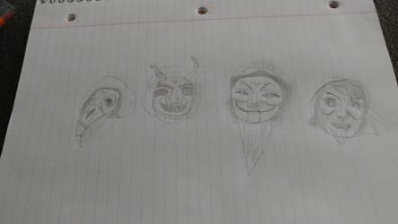 Yule lad masks part 1 by Mickmick108
