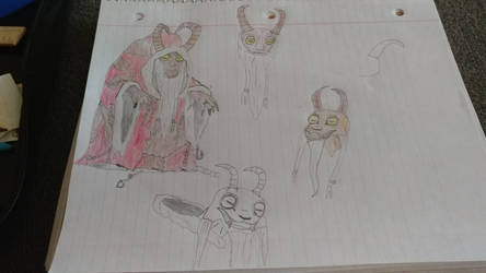 Krampus Doodles by Mickmick108
