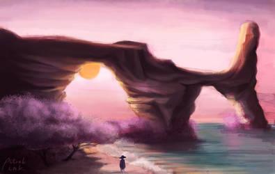 Sunset Cliffs by snowishtiger