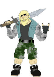 Thrash metal barbarian by Mandarx-killed-it
