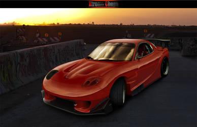 fd3s red rx7 by carl-designer