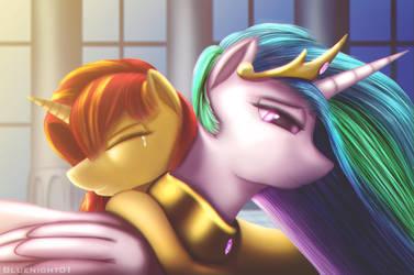 Renunion of two stars by Bluenight01