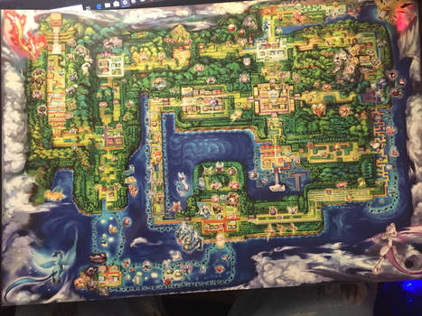 Kanto Region Map From Gamestop by BostonianCritic777