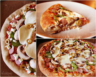 Home-made stuffed crust Pizza by camnhungth