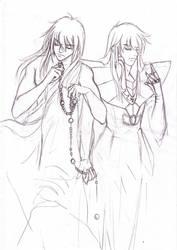 Asmita and Shaka by Kei-S