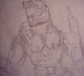 Master Chief - Gesture drawing by LullabyWitness