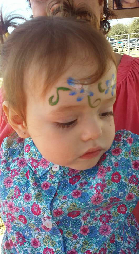 flower face paint by funfacesballoon ...