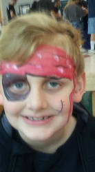 pirate face paint by funfacesballoon