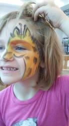 giraffe face paint by funfacesballoon