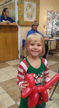 christmas face paint by funfacesballoon