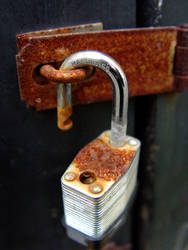 Rusted Lock by Jessibell