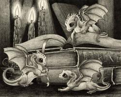 Three Draggins by MistiqueStudio