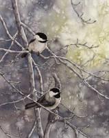 Chickadees by MistiqueStudio