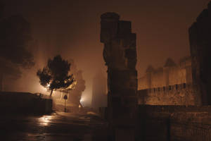 Carcassonne in the fog 2 by GailJohnson