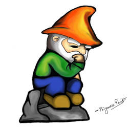 thinking gnome by priyankapandit05