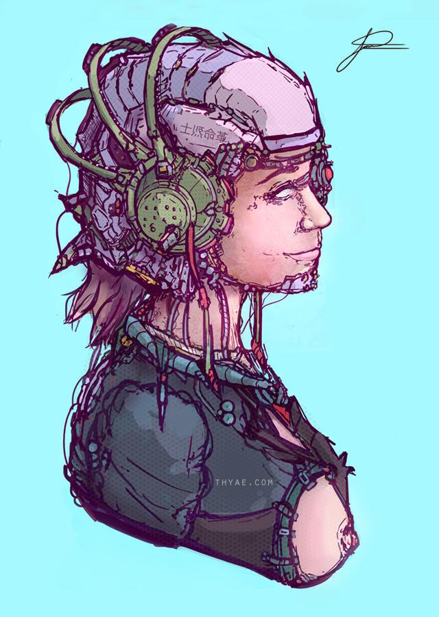 Cyber-pilot by Thyae