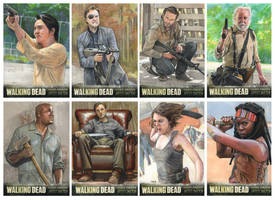 Walking Dead S3 Sketchcards - Which Weapon? by Zephyri