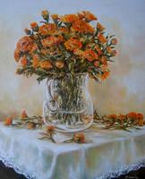 Orange Flowers 2 by radina
