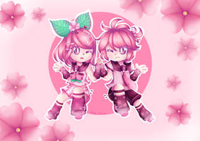 Sakura Rin and Len by JustARandomPers0n
