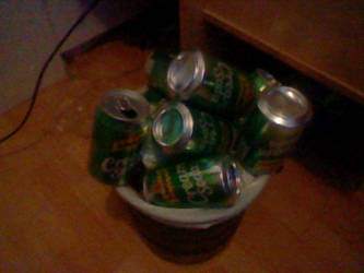 Trash can full of cans... by likkyzero