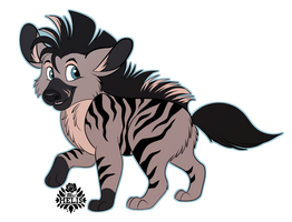 Striped Hyena Pup by Miss-Melis