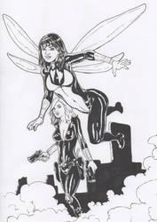 la avispa y la viuda. by kaskajo