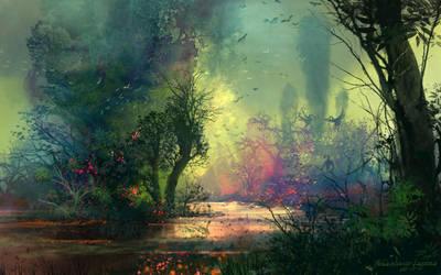 Riverbank by FerdinandLadera