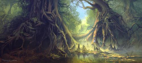 Mystical Forest by FerdinandLadera