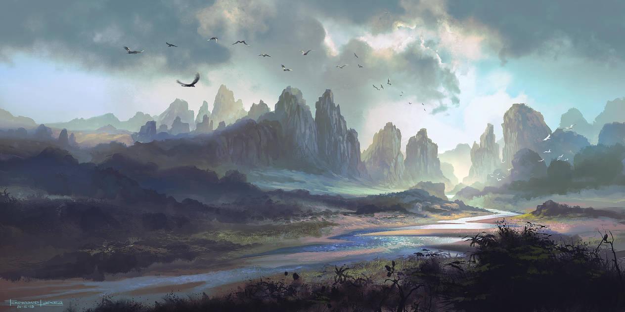 River Mountain by FerdinandLadera