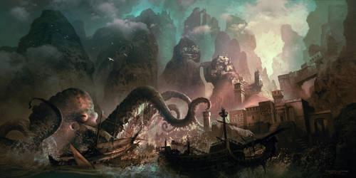 Monster Raid by FerdinandLadera
