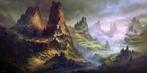 Achtorjah Mountain by FerdinandLadera