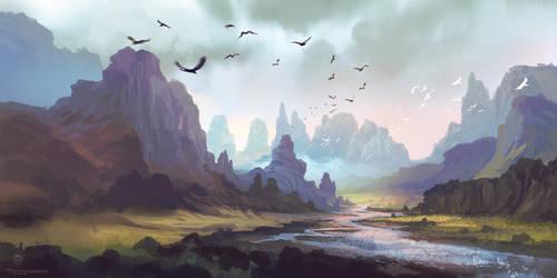 Mountain Landscape by FerdinandLadera