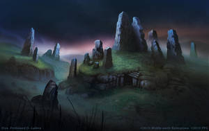 Ancient Barrow and Stone Ring by FerdinandLadera